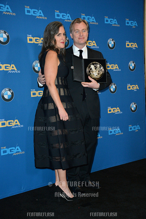 Christopher Nolan &amp; Emma Thomas at the 70th Annual Directors Guild Awards at the Beverly Hilton Hotel, Beverly Hills, USA 03 Feb. 2018<br /> Picture: Paul Smith/Featureflash/SilverHub 0208 004 5359 sales@silverhubmedia.com