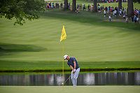 Alex Noren (SWE) chips up on to 3 during 2nd round of the World Golf Championships - Bridgestone Invitational, at the Firestone Country Club, Akron, Ohio. 8/3/2018.<br /> Picture: Golffile | Ken Murray<br /> <br /> <br /> All photo usage must carry mandatory copyright credit (© Golffile | Ken Murray)