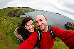 Allison and I on Carickarede Island in Ballintoy, County Antrim, Northern Ireland on Saturday, June 22nd 2013. (Photo by Brian Garfinkel)