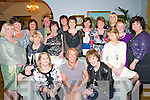 Retirement party : Maggie Healy-Payne, centre  front, Listowel, who retired from Kells Ward, Kerry General Hospital pictured at her retirement party at the..Listowel arms Hotel on Friday night last. Front : Bernie Keane, Maria O'Connor, Coleen O'Leray, Maggie Healy-Payne, Grainne Hyde, Deidre Moss & Eileen Butler. Centre : Margaret Durkin, Margaret Wrenn, Georgina O'Keeffe, Carie Dillon, Kathleen Norris, Margaret Foley & Ursala Enright. Back : Paul Hughes, Margaret mangan & Deidre O'Callaghan.