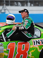 Apr 16, 2009; Avondale, AZ, USA; NASCAR Camping World Series West driver Billy Kann prior to the Jimmie Johnson Foundation 150 at Phoenix International Raceway. Mandatory Credit: Mark J. Rebilas-