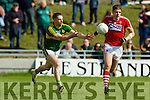Marc Ó Sé   Kerry in action against Ian Maguire Cork in the National Football league in Austin Stack Park, Tralee on Sunday.