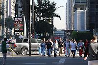 Sao Paulo (SP), 24/07/2019 - Dia de sol, calor, secura, e a camada de poluição podendo ser vista no horizonte, na região da Avenida Paulista, em São Paulo nesta quarta-feira, 24. ( Foto Charles Sholl/Brazil Photo Press)