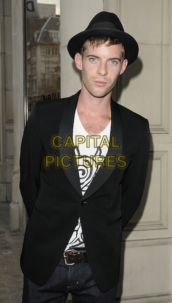 LUKE  TREADAWAY.The Emporio Armani Summer Garden Live Final Series Of Music Events at the Emporio Armani boutique in New Bond St., London, England..July 14th, 2011.half length white top black suit hat.CAP/CAN.©Can Nguyen/Capital Pictures.