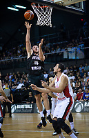 Tom Vodanovich lays a shot up during the FIBA World Cup Asia qualifier between the New Zealand Tall Blacks and Syria at TSB Bank Arena in Wellington, New Zealand on Sunday, 2 December 2018. Photo: Dave Lintott / lintottphoto.co.nz