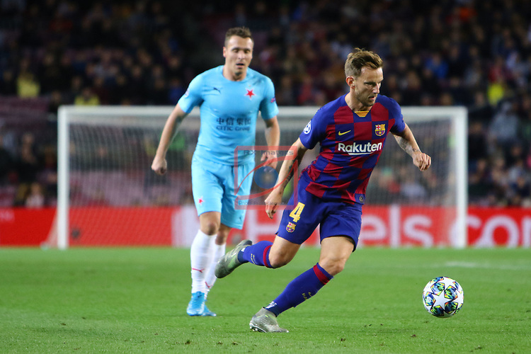 UEFA Champions League 2019/2020.<br /> Matchday 4.<br /> FC Barcelona vs SK Slavia Praha: 0-0.<br /> Ivan Rakitic.