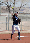 March 7, 2012:   Nevada Wolf Pack third baseman Chelsea Barilli throws to first against the Sacramento State Hornets during their NCAA softball game played at Christina M. Hixson Softball Park on Wednesday in Reno, Nevada.