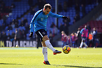 Christian Eriksen of Tottenham Hotspur  ahead of kick off before Crystal Palace vs Tottenham Hotspur, Premier League Football at Selhurst Park on 25th February 2018
