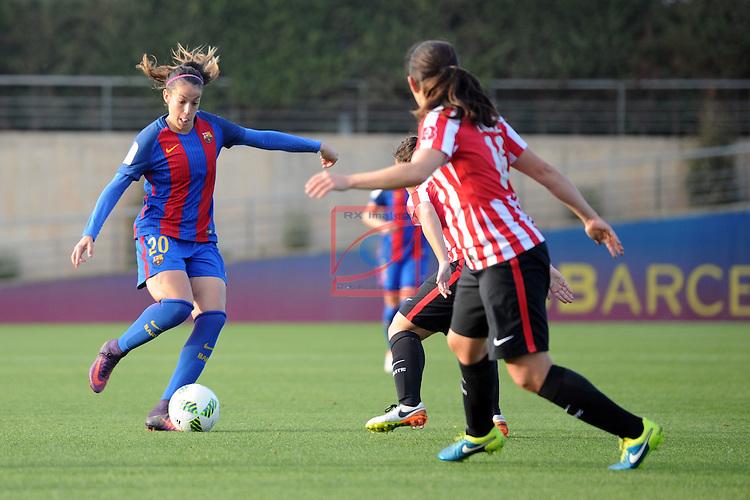 Spanish Women's Football League Iberdrola 2016/17 - Game: 11.<br /> FC Barcelona vs Athletic Club: 2-1.<br /> Olga Garcia.