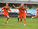 DUNDEE UTD'S JOHNNY RUSSELL CELEBRATES AFTER HE SCORES UNITED'S THIRD