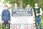 Kilmoyley Macra na Feirme will hold their annual field day on August 6th the bank holiday Monday. .L-R ?? Pro John Collins, Sean Nolan, Luke Fitzell and Pierce Claffey.