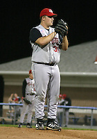 August 12, 2003:  Pitcher (Joshua) Josh Merchant of the Tri-City ValleyCats during a game at Dwyer Stadium in Batavia, New York.  Photo by:  Mike Janes/Four Seam Images