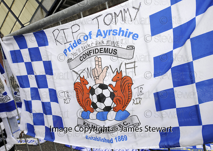 17/05/2008   Copyright Pic: James Stewart.File Name : sct_jspa01_kilmarnock_v_falkirk.TRIBUTES LEFT OUTSIDE RUGBY PARK, KILMARNOCK, FOR TOMMY BURNS.....James Stewart Photo Agency 19 Carronlea Drive, Falkirk. FK2 8DN      Vat Reg No. 607 6932 25.Studio      : +44 (0)1324 611191 .Mobile      : +44 (0)7721 416997.E-mail  :  jim@jspa.co.uk.If you require further information then contact Jim Stewart on any of the numbers above........