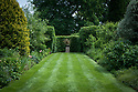 Vegetable Garden borders, looking east, Vann House and Garden, Surrey, mid June.