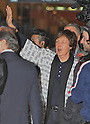 Sir Paul McCartney arrives at Kansai International Airport in Osaka