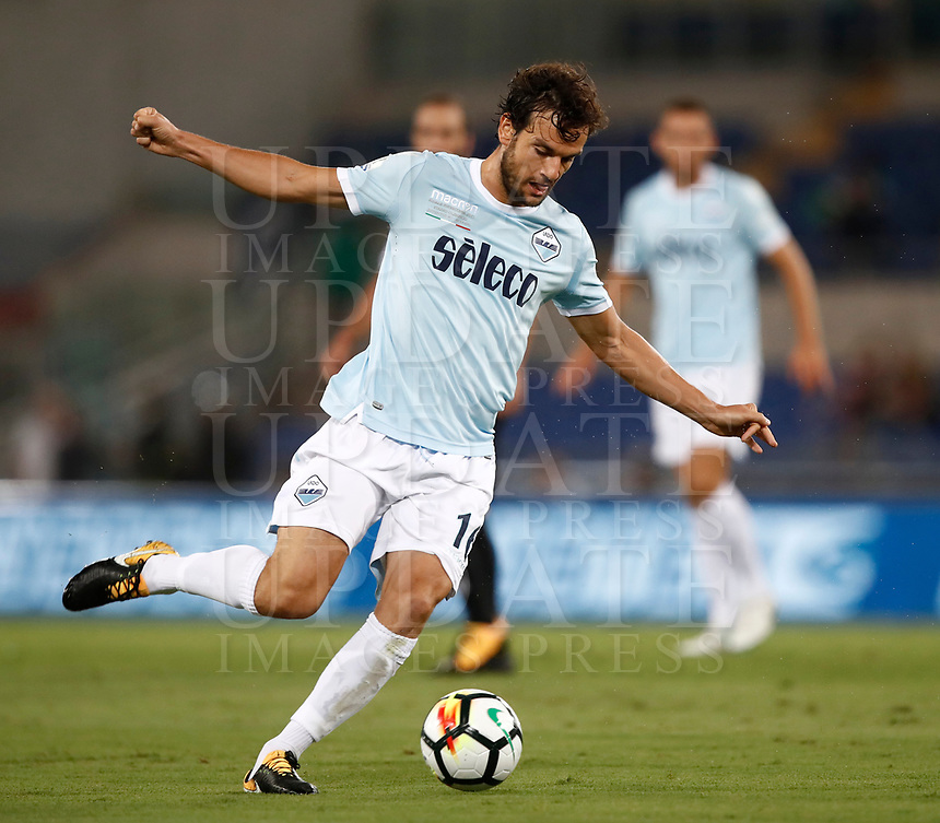 Calcio, Football - Juventus vs Lazio Italian Super Cup Final  <br /> Lazio's Marco Parolo in action during the Italian Super Cup Final football match between Juventus and Lazio at Rome's Olympic stadium, on August 13, 2017.<br /> UPDATE IMAGES PRESS/Isabella Bonotto