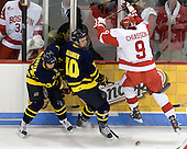 Stephane Da Costa (Merrimack - 24), Bobby Kramer (Merrimack - 10), Alex Chiasson (BU - 9) - The visiting Merrimack College Warriors tied the Boston University Terriers 1-1 on Friday, November 12, 2010, at Agganis Arena in Boston, Massachusetts.