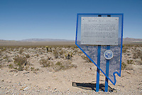 Nevada Test Site, Nye County, Nevada.  Nuclear weapons were tested here between 1951 and 1992.