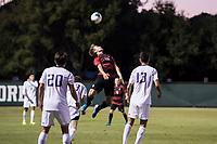 STANFORD, CA -- October 3, 2019. The Stanford Cardinal men's soccer team lost to the University of Washington Huskies 2-1 at Laird Q. Cagan Stadium.