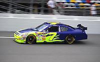 Jul. 3, 2008; Daytona Beach, FL, USA; NASCAR Sprint Cup Series driver Robby Gordon during practice for the Coke Zero 400 at Daytona International Speedway. Mandatory Credit: Mark J. Rebilas-