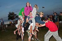 Swedish scouts performing acrobatics