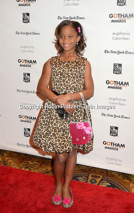 Quvenzhane Wallis attends the 22nd Annual IFP Gotham Independent Film  Awards on November 26, 2012 at Cipriani Wall Street in New York City.