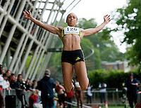 17 MAY 2009 - LOUGHBOROUGH,GBR - Jessica Ennis - Womens Long Jump - Loughborough International Athletics .(PHOTO (C) NIGEL FARROW)