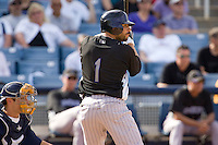 March 13, 2010 - Colorado Rockies' Omar Quintanilla #1 during a spring training game against the Milwaukee Brewers at Maryvale Baseball Park in Phoenix, Arizona.
