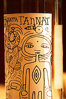 Tannat Grappa Bernari, Colonia, Uruguay. Label design by Jorge Carbajal from Colonia and Sacramento. Montevideo, Uruguay, South America Uruguay wine production institute Instituto Nacional de Vitivinicultura INAVI
