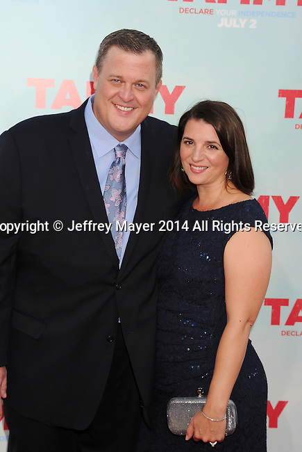 HOLLYWOOD, CA- JUNE 30: Actor Billy Gardell (L) and wife Patty Gardell arrive at the 'Tammy' - Los Angeles Premiere at TCL Chinese Theatre on June 30, 2014 in Hollywood, California.