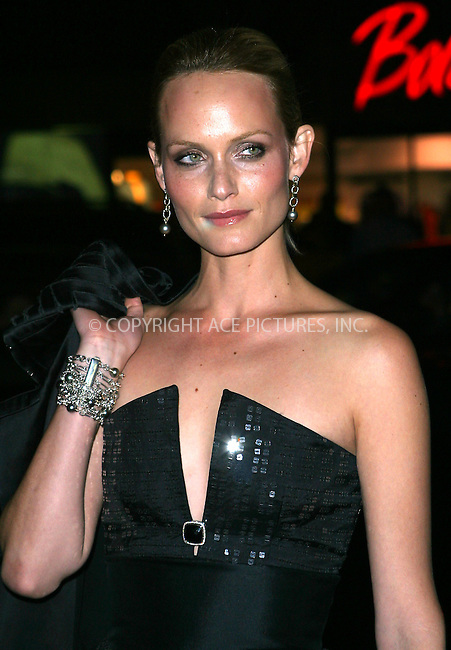 Model Amber Valetta attends the benefit for the American Foundation for AIDS Research (amfAR) in New York, February 3, 2003. Please byline: Alecsey Boldeskul/NY Photo Press.   ..*PAY-PER-USE*      ....NY Photo Press:  ..phone (646) 267-6913;   ..e-mail: info@nyphotopress.com