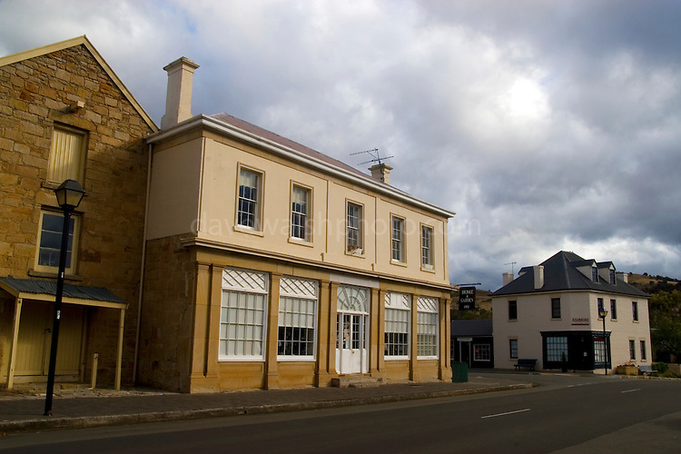 FORMERLY BUSCOMBE?S STORE & POST OFFICE - Originally a single-storey building built c1826, it was added to by James Buscombe in the 1830s and was used as a store.  It served as the Post Office for many years.....Richmond, Tasmania - the original capital of Tasmania. ..