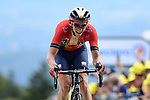 Dylan Teuns (BEL) Bahrain-Merida wins Stage 6 of the 2019 Tour de France running 160.5km from Mulhouse to La Planche des Belles Filles, France. 11th July 2019.<br /> Picture: ASO/Alex Broadway | Cyclefile<br /> All photos usage must carry mandatory copyright credit (© Cyclefile | ASO/Alex Broadway)