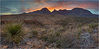 An early morning scramble up a mesa offered this view looking East at the Window in Big Bend National Park. The classic, traditional view of the Window looks west from the Chisos Mountain Lodge. This comes from the other side. Sunrise offered some brilliant shades of red, orange, and pink on this cool late March morning.