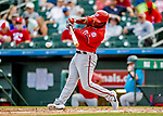 1 March 2019: Washington Nationals outfielder Chuck Taylor at bat during a Spring Training game against the Miami Marlins at Roger Dean Stadium in Jupiter, Florida. The Nationals defeated the Marlins 5-4 in Grapefruit League play. Mandatory Credit: Ed Wolfstein Photo *** RAW (NEF) Image File Available ***