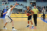 Mannheim 17.01.2009, am Ball NBBL Team S&uuml;d Filmore Beck gegen NBBL Team Nord Mathis M&auml;nninghoff im Spiel NBBL S&uuml;d - NBBL Nord beim BBL Allstar Day in der SAP Arena<br /> <br /> Foto &copy; Rhein-Neckar-Picture *** Foto ist honorarpflichtig! *** Auf Anfrage in h&ouml;herer Qualit&auml;t/Aufl&ouml;sung. Belegexemplar erbeten.