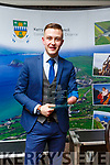 Jordon Lee from Killarney who received his Kerry County Council and Municipal District Award at the ceremony in the Rose Hotel on Thursday night.