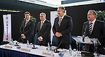 James Easdale, Ally McCoist, Graham Wallace and  David Somers take their place at the top table for the start of the Rangers AGM