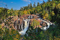 The Mississagi River at Aubrey Falls in the boreal forest<br /> Aubrey Falls Provincial Park<br /> Ontario<br /> Canada