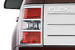 Tail light close up detail view of a 2009 Ford Flex