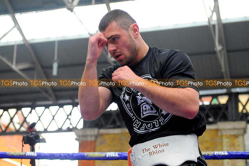 Dave Allen during a Public Workout at Old Spitalfields Market on 12th April 2019