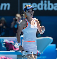 AGNIESZKA RADWANSKA  (POL)<br /> <br /> Tennis - Australian Open - Grand Slam -  Melbourne Park -  2014 -  Melbourne - Australia  - 22nd January 2013. <br /> <br /> &copy; AMN IMAGES, 1A.12B Victoria Road, Bellevue Hill, NSW 2023, Australia<br /> Tel - +61 433 754 488<br /> <br /> mike@tennisphotonet.com<br /> www.amnimages.com<br /> <br /> International Tennis Photo Agency - AMN Images
