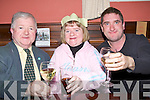 TOASTINS: The Mahony family, Pat, Grace and Enda Mahony (Tralee)toasting  to the Christmas season in the Imperial Hotel,Tralee on Saturday night.............