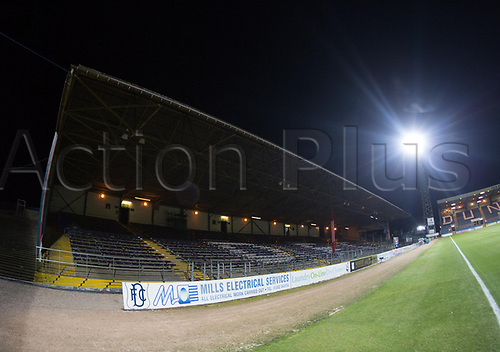 8th December 2017, Dens Park, Dundee, Scotland; Scottish Premier League football, Dundee versus Aberdeen; General view of the South Enclosure at Dens Park, home of Dundee, which is closed for the visit of Aberdeen due to frozen pipes