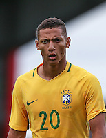 Richarlison of Brazil during the International match between England U20 and Brazil U20 at the Aggborough Stadium, Kidderminster, England on 4 September 2016. Photo by Andy Rowland / PRiME Media Images.