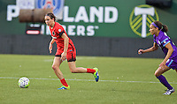 Portland, Oregon - Sunday April 17, 2016: Portland Thorns FC defender Emily Menges (4). The Portland Thorns play the Orlando Pride during a regular season NWSL match at Providence Park.