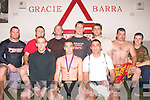 Worth his weight in Gold: Members of Tralee's Brazilian Jiu Jitsiu club, The Gracie Barra, based in Boherbue, who travelled to the Informed Performance Gym in Glasnevin, Dublin last weekend to take part in the largest competition ever held in this country. Members from all over Ireland and the UK took part and Ardfert native Jonathan O'Sullivan (front centre) won Gold in the lightweight division, Informed Performance ground fighting championship. Danny Casey (front left) and Mikei Kryzi (front right) also fought well in their weight category but unfortunately they both finished just outside medal positions. Also photographed just before a training session last Tuesday evening were back l-r: James O'Brien, Tom Patten (Instructor), Eamonn Griffin, Francis Galvin (Instructor), Jamie Porteous, John Walsh and Maurice O'Sullivan.