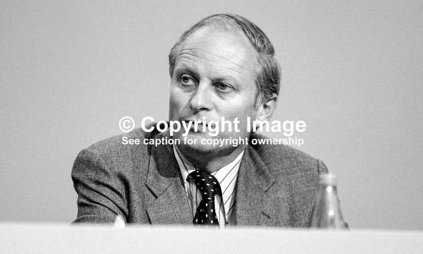 Richard Luce, MP, Conservative Party, UK, junior minister, Foreign Office, 19840147RL2.<br />