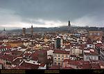 Stormy Day in Florence Santa Croce Bargello Badia Fiorentina Palazzo Vecchio Orsanmichele Torre dei Visdomini Torre dei Ricci South Florence