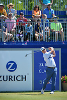 Charley Hoffman (USA) watches his tee shot on 1 during Round 4 of the Zurich Classic of New Orl, TPC Louisiana, Avondale, Louisiana, USA. 4/29/2018.<br /> Picture: Golffile | Ken Murray<br /> <br /> <br /> All photo usage must carry mandatory copyright credit (&copy; Golffile | Ken Murray)